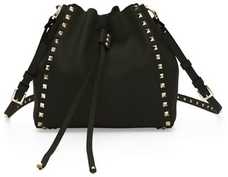 Valentino Small Rockstud Leather Bucket Bag