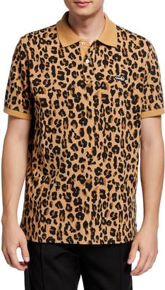Ovadia & Sons Men's Leopard-Print Polo Shirt