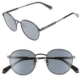 Polaroid Women's 51Mm Polarized Round Sunglasses - Black