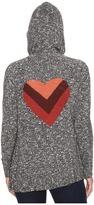 Life is Good Striped Heart Flyaway Cardigan