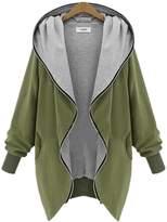 Womdee Women Zip Up Hoodie Long Sleeve Plus Size Casual Jacket Outwear (, XXXXL)