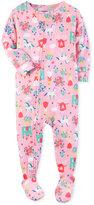 Carter's 1-Pc. Princess-Print Footed Pajamas, Baby Girls (0-24 months)