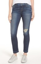 KUT from the Kloth Women's Ripped Reese Straight Leg Ankle Jeans