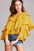 Forever 21 Tiered Ruffle Blouse