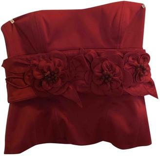 Karen Millen \N Burgundy Cotton Top for Women