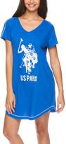U.S. Polo Assn. Women's Nightgowns ROY - Royal Blue 'USPA' V-Neck Sleep Dress - Women