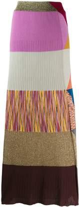 Missoni pattern mix knitted skirt