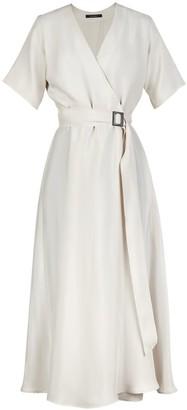 Flow Sensation Wrap Dress In White