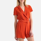 Lpb Woman Wrapover V-Neck Short-Sleeved Playsuit