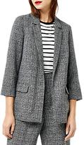 Warehouse Textured Slim Fit Blazer, Dark Grey