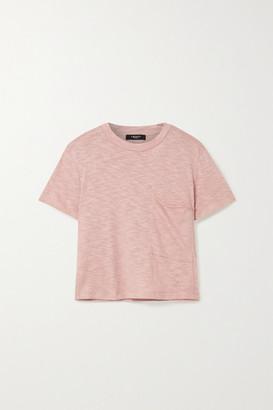 Twenty Montreal Brooks Cropped Slub Jersey T-shirt - Antique rose