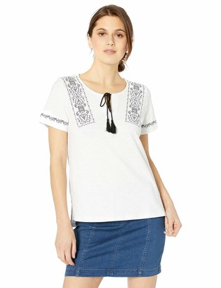 Tribal Women's S/S Top w/Embroidery