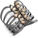 Thalia Sodi Gold-Tone Yellow Crystal Hinged Cuff Bracelet, Created for Macy's
