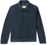 Marni - Slim-fit Washed Cotton And Linen-blend Velvet Jacket