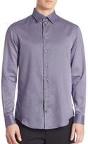 Armani Collezioni Micro-Square Regular Fit Shirt