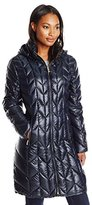 Via Spiga Women's Chevron Packable Coat