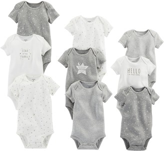 Carter's Baby Girls' 9-Pack Grow with Me Bodysuit Set Multi/Girl 3M-6M-9M