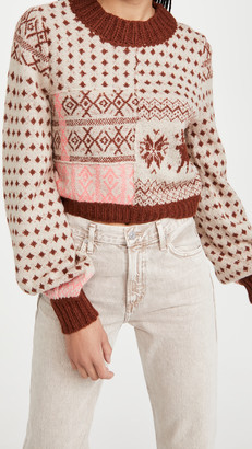 Free People Snow Globe Pullover Sweater