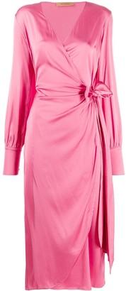 Andamane Wrap Style Midi Dress
