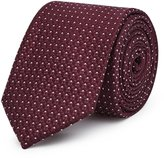 Reiss Ishia - Dotted Silk Tie in Red, Mens
