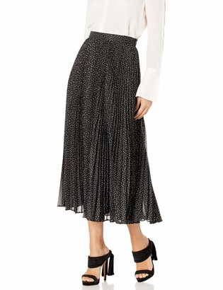 Jill by Jill Stuart Women's Pleated Skirt Foil Printed Chiffon