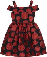 Badgley Mischka Belle By Off Shoulder Rose Jacquard Dress, Girls' Size 7-14