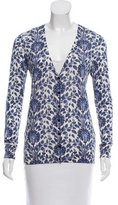 Tory Burch Silk Floral Cardigan