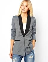 Vila Diamond Pattern Blazer