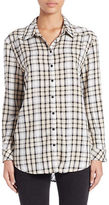 Kensie Plaid and Lace Shirt