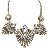 ShiningLove Fashion Metal Sparkling Vintage Gem Collar Pendant Statement Necklace