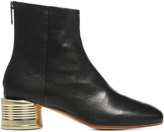 MM6 MAISON MARGIELA Tin Can Leather Ankle Boots