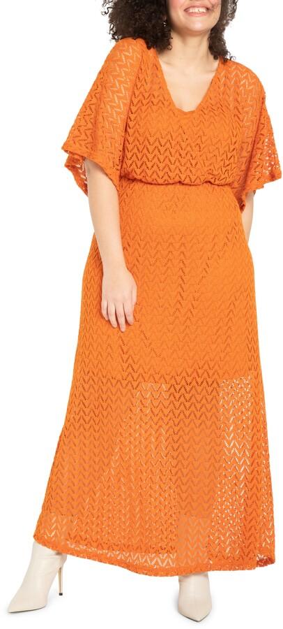 ELOQUII Crochet Lace Maxi Dress
