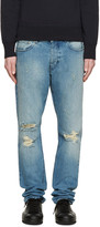 Ami Alexandre Mattiussi Blue Destroyed Jeans