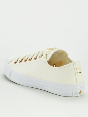 Converse Chuck Taylor All Star Faux Leather Ox - Off white