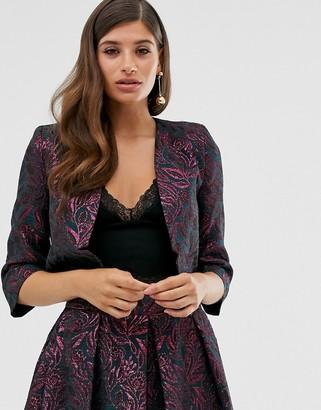 Closet London Closet crop tuxedo jacket-Pink