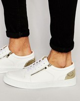 Asos Sneakers in White With Zips and Perforation