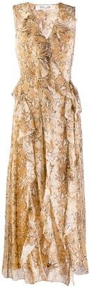 Diane von Furstenberg Animal Print Chiffon Dress