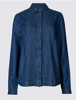 M&S Collection Denim Long Sleeve Shirt