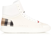 Burberry Lockhart high-top leather trainers