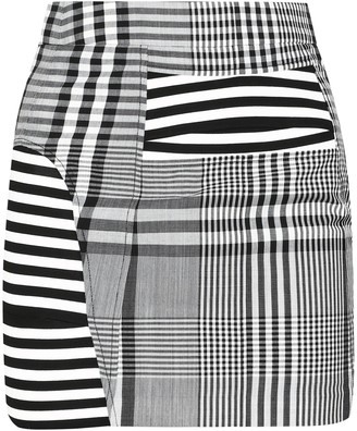Burberry Tartan Wool Mini Skirt