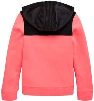 adidas Junior ID Winter Velour Hooded Full Zip Hoodie - Pink