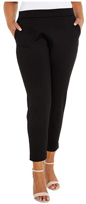 MICHAEL Michael Kors Size Slim Trousers (Black) Women's Casual Pants