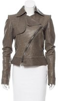 Ungaro Asymmetrical Leather Jacket