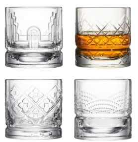 La Rochere Assorted 10 Ounce Whisky Tumblers, Set of 4
