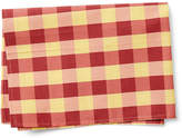 Maison Du Linge Large Check Tea Towel - Red/Saffron