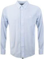 Pretty Green Halliday Oxford Stripe Shirt Blue