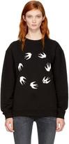 McQ by Alexander McQueen Black Circle Swallows Sweatshirt