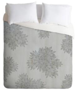 Deny Designs Iveta Abolina Beach Day Gray Twin Duvet Set Bedding