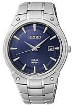 Seiko Men's Starburst Stainless Steel Blue Dial
