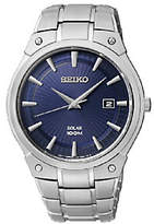 Seiko Men's Starburst Stainless Steel Blue DialBracelet Watch